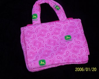 John Deere Fabric Diaper Bag for  Bitty Baby 15in Doll Clothes