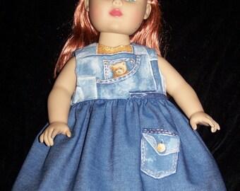 American Girl Doll TEDDY BEAR  Dress also 18in Doll