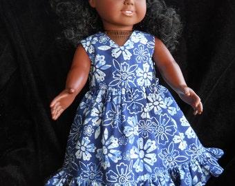 American Girl  Blue flower Batise Dress