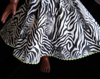 Zebra skirt  for American Girl Dolls