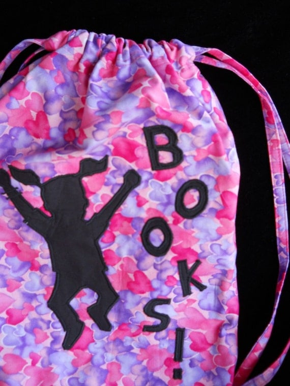Hooray for Library  Books Bag  and Gymnastics Bag  SALE PRICED