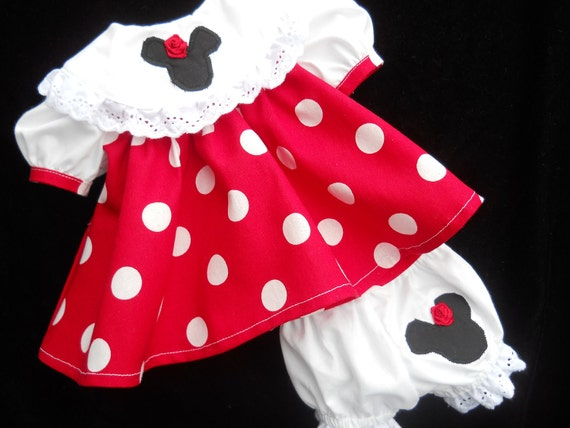 Minnie mouse dress for Bitty Baby