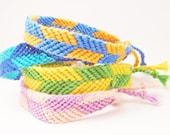 CUSTOM Macrame Friendship Bracelet - Dual Color Arrows - 100% Cotton