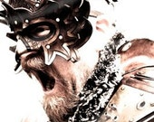 Gryphon Rider Head Gear Handmade Leather Mask
