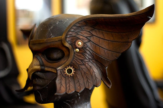 Valkyrie Handmade Leather Mask