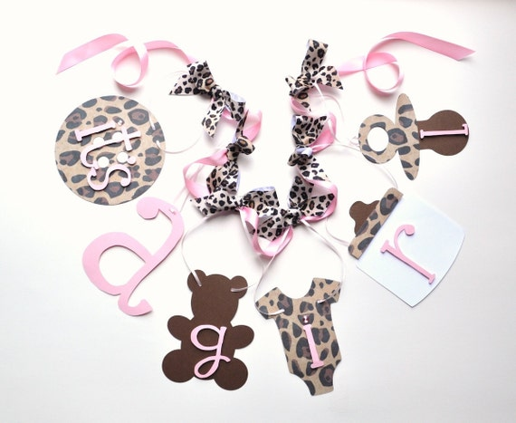 40 stickers bag favor label pink leopard baby shower personalized girl cheetah. Brand New. $ Buy It Now 12