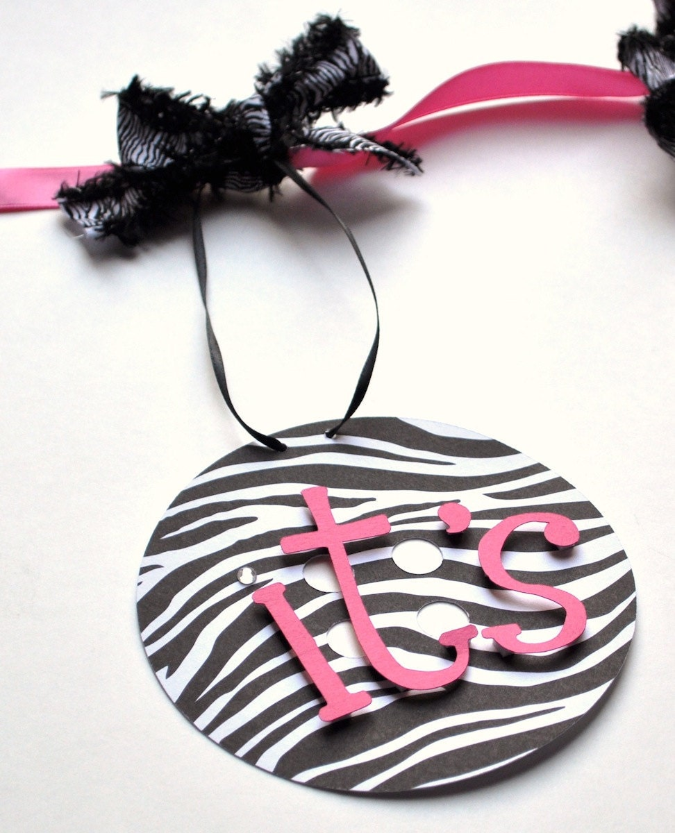 Hot Pink Zebra Bathroom Accessories: Zebra Baby Shower Decorations Hot Pink And Black By