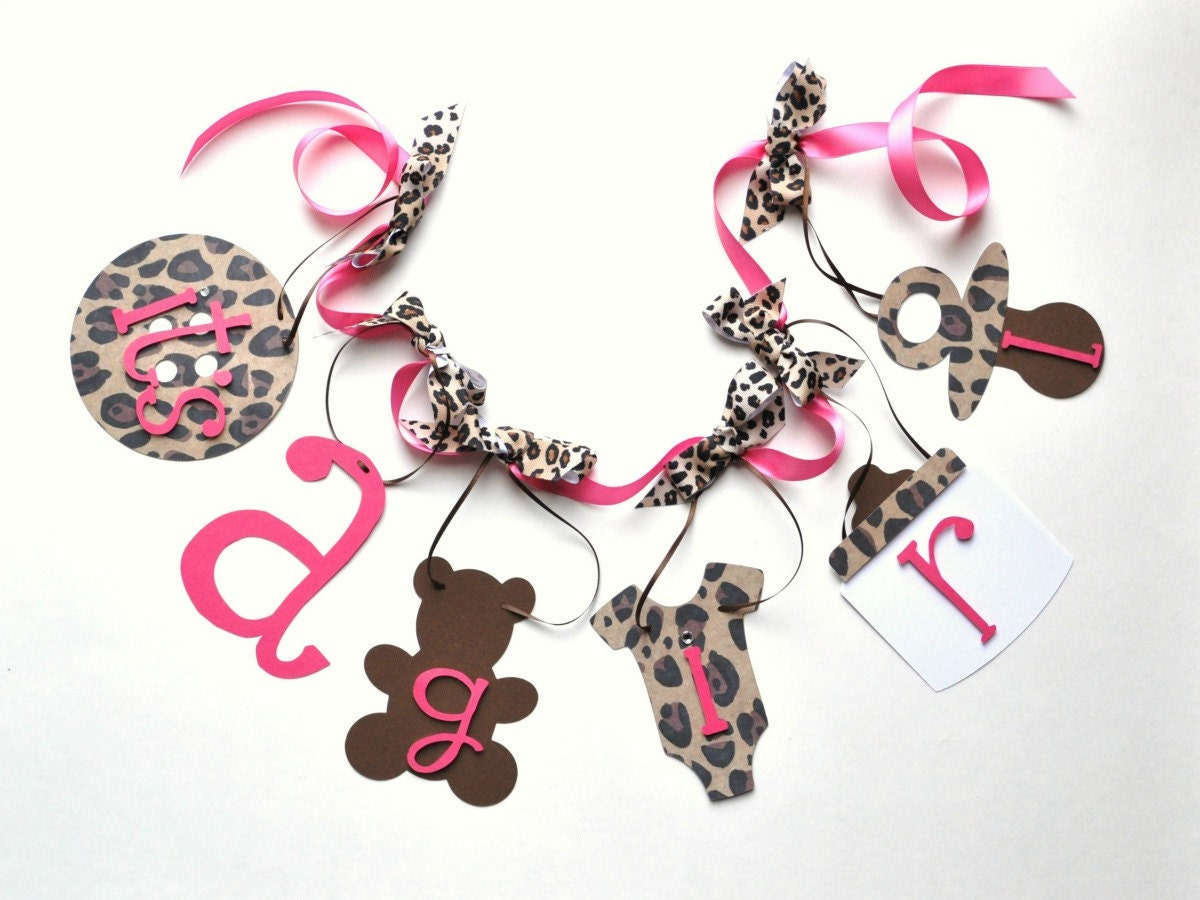 leopard baby shower decorations cheetah pink and brown