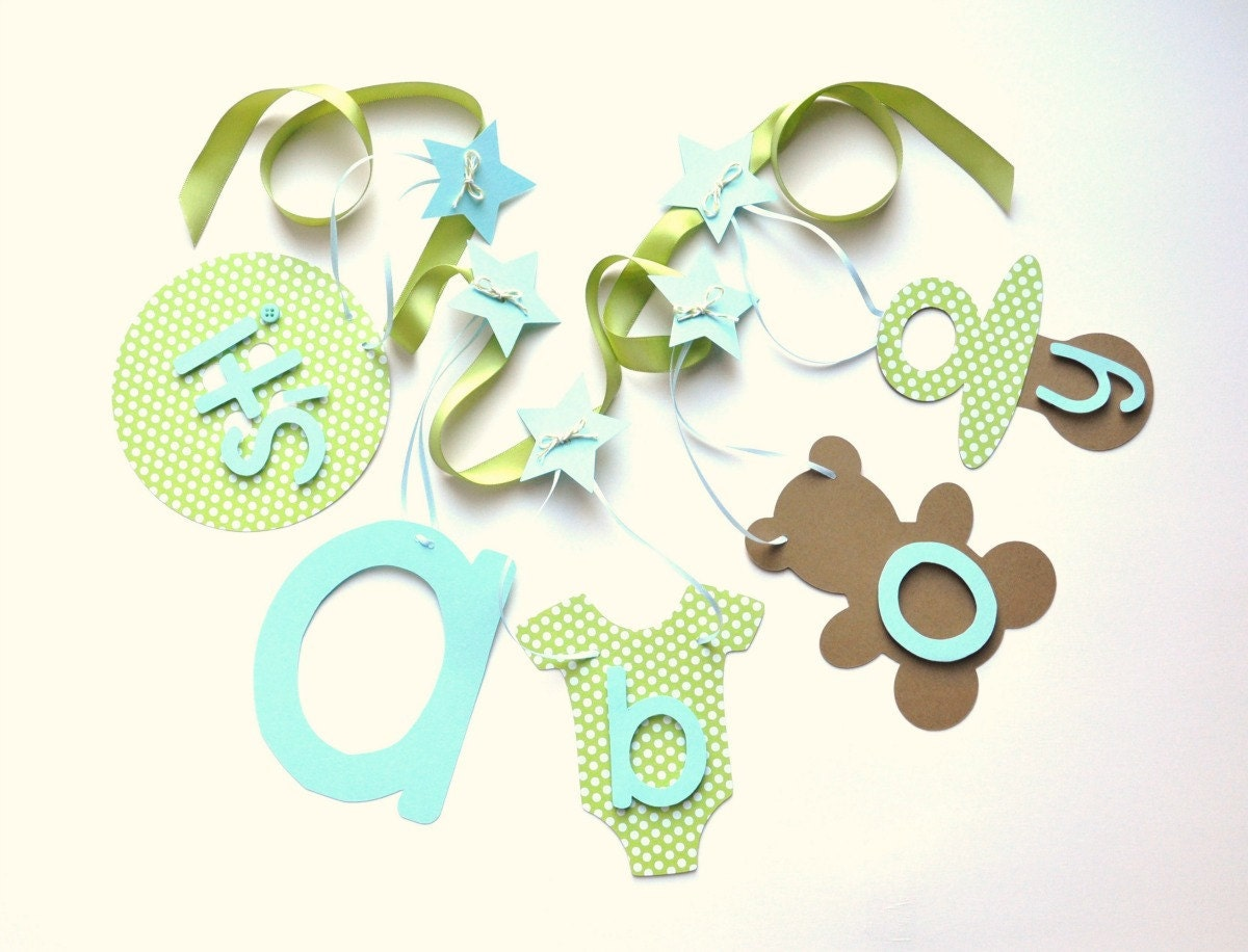 blue and green baby shower decorations it 39 s a boy banner