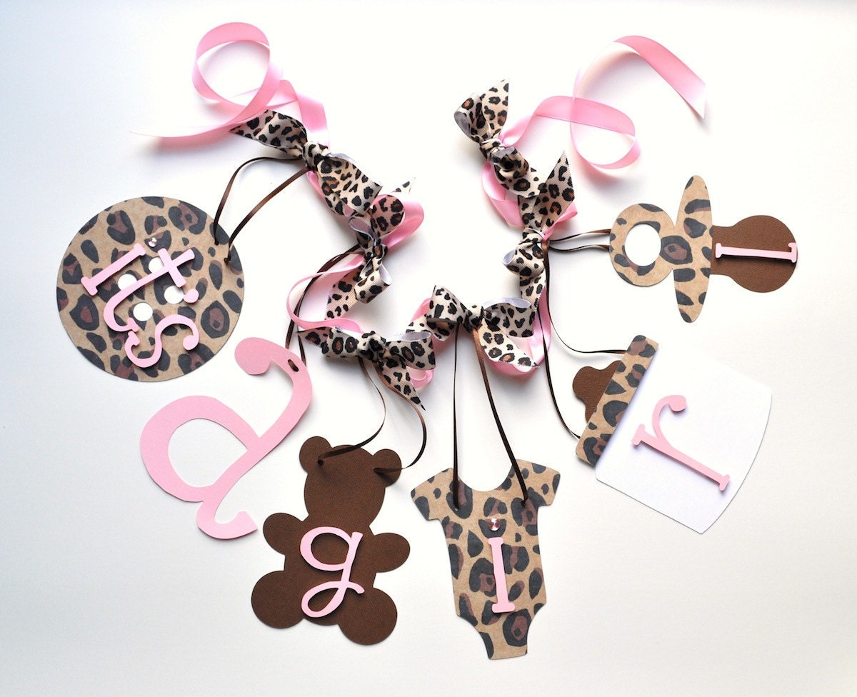 leopard baby shower decorations cheetah and baby pink it 39 s
