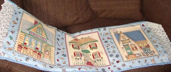 Table Runner from Debbie Mumm Victorian Village Shops Fabric