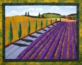 Summer in Provence II Original Art Quilt by Lenore Crawford