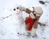 Ernie the Sock Monkey Snowman