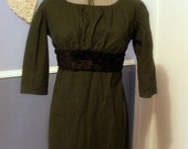 DISCOUNTED Regency Green Gown