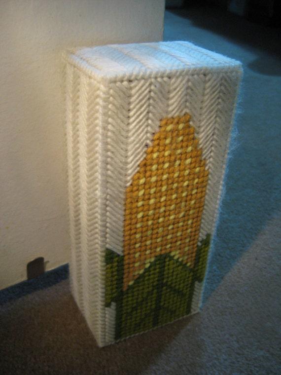 Corn Door Stop Needlepoint Plastic Canvas Brick Doorstop Bookend