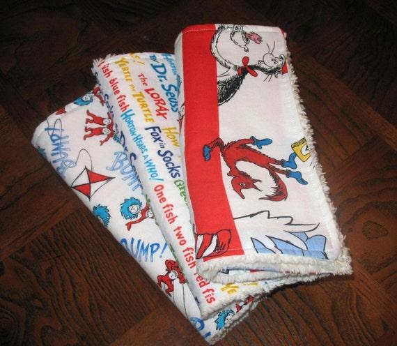 Set of 3 - Dr. Seuss Chenille Burp Cloths