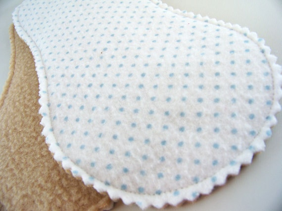 Little Peanut Panty Liners in Blue Dots - Set of 2 Reusable Cloth Liners