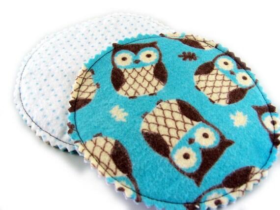 Nursing Pads In Hoot Owl - 1 pair of cloth pads