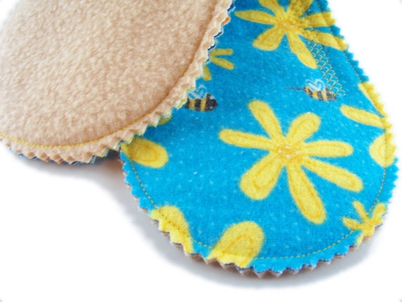 Medium Absorb Short Peanut Pad in Bumblebee Buzz - Reusable Cloth Pad