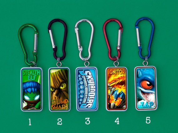 Skylanders Keychains Stealth Elf, Stump Smash, Ignitor and Zap Custom Listing for MommytoDarlings