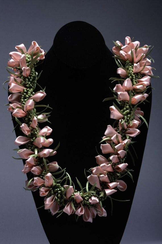 Lei Can Be Made With Construction Paper Yarn Solid: Pink Crocus Satin Lei