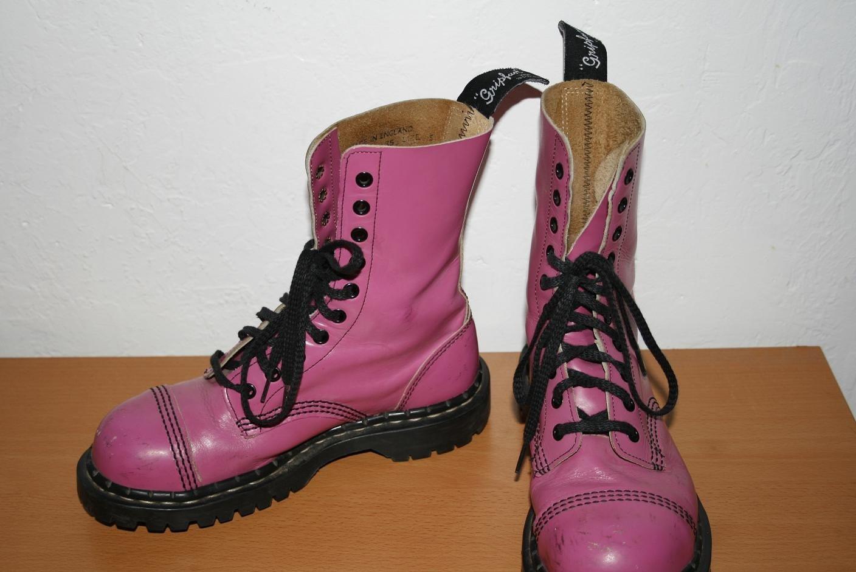 Bright Pink Gripfast Steel Toe Boots Size 7