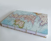 Map of Europe Coptic Stitched Journal or Notebook
