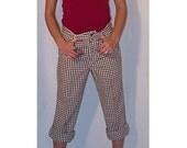 Vintage Levi Straus Brown Gingham Boyfriend Jeans