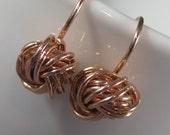 Rose Gold Love Knot Earrings