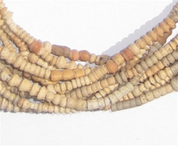 African Trade Beads - Mali Clay Beads - 4 Strands (MALI-CLAY-4STR-201)