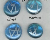 Hand Engraved Arch Angel Meditation Stones - Choose ONE - Free Us Shipping