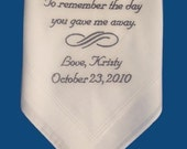 Personalized Wedding Men's Handkerchief With Your Own Personalization