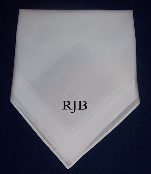 12 mens handkerchiefs hankies monogrammed personalized