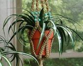 Reserved for bigflo71 - Miniature Macrame Plant Hanger