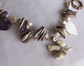 wampum mermaid charm necklace