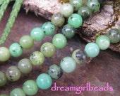 Chrysophrase 4mm Gemstone Beads