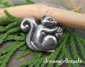 Baby Squirrel Pewter Bead Pendant from Green Girl Studios