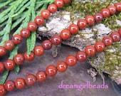 Red Jasper 4mm Gemstone Round Beads