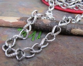 1FT Big and Chunky Antique Silver Twist and Jive Chain