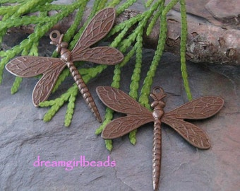 2 Trinity Vintage Patina Dragonflies