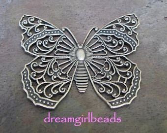 Antiqued Silver Filigree Butterfly, 1 PC