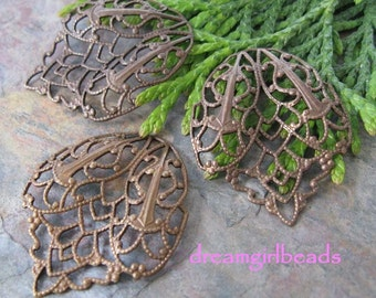 3 Trinity Brass Vintage Patina Filigree Tear Drops