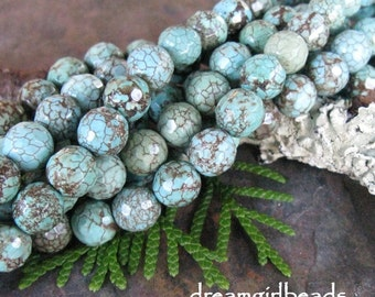 Genuine Faceted Chinese Turquoise 8mm Gemstone Beads