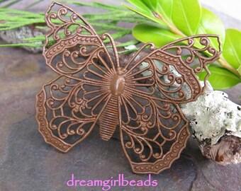 Trinity Vintage Patina Filigree Butterfly