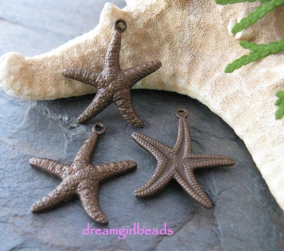 Trinity Vintage Patina Star Fish Charms
