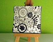 Decoupage Flowers - Mini Canvas with Easel