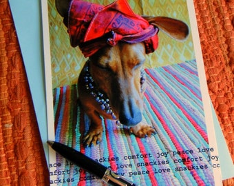 A Dachshund's Prayer Photography Flat Card