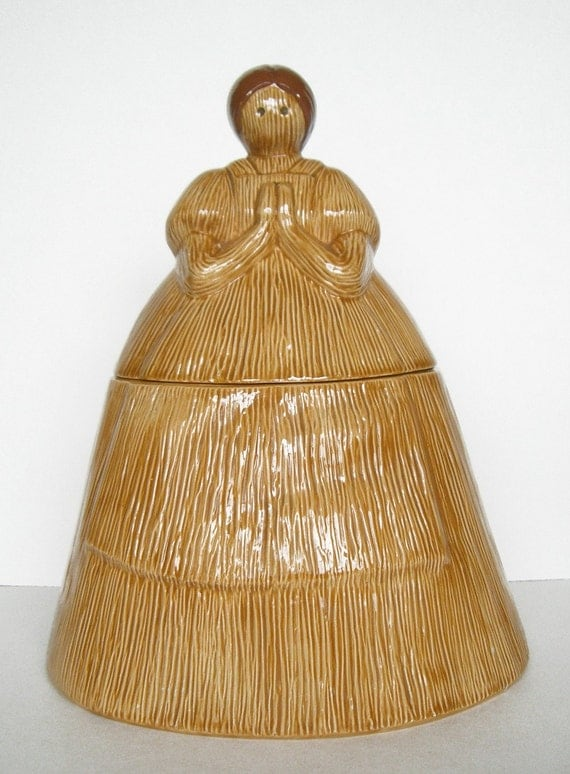 Very Rare Harvest Lady Prayer Cookie  Jar
