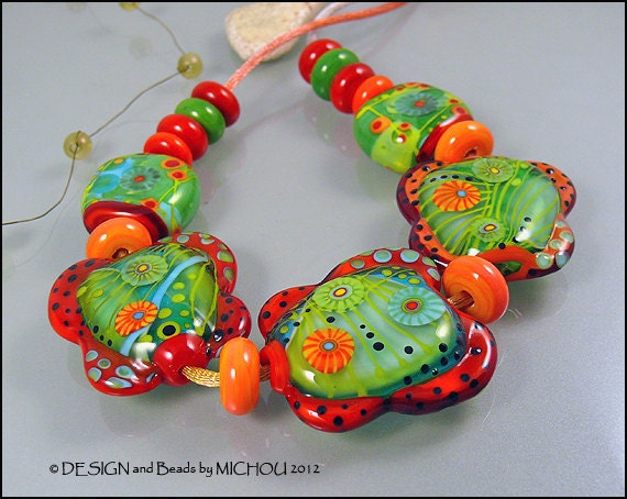 Caribbean Garden - Glass bead Set by Michou Pascale Anderson