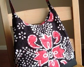 Totes --Mom and Me--Tribal Damask in Hot Pink\/White\/Black Reserved